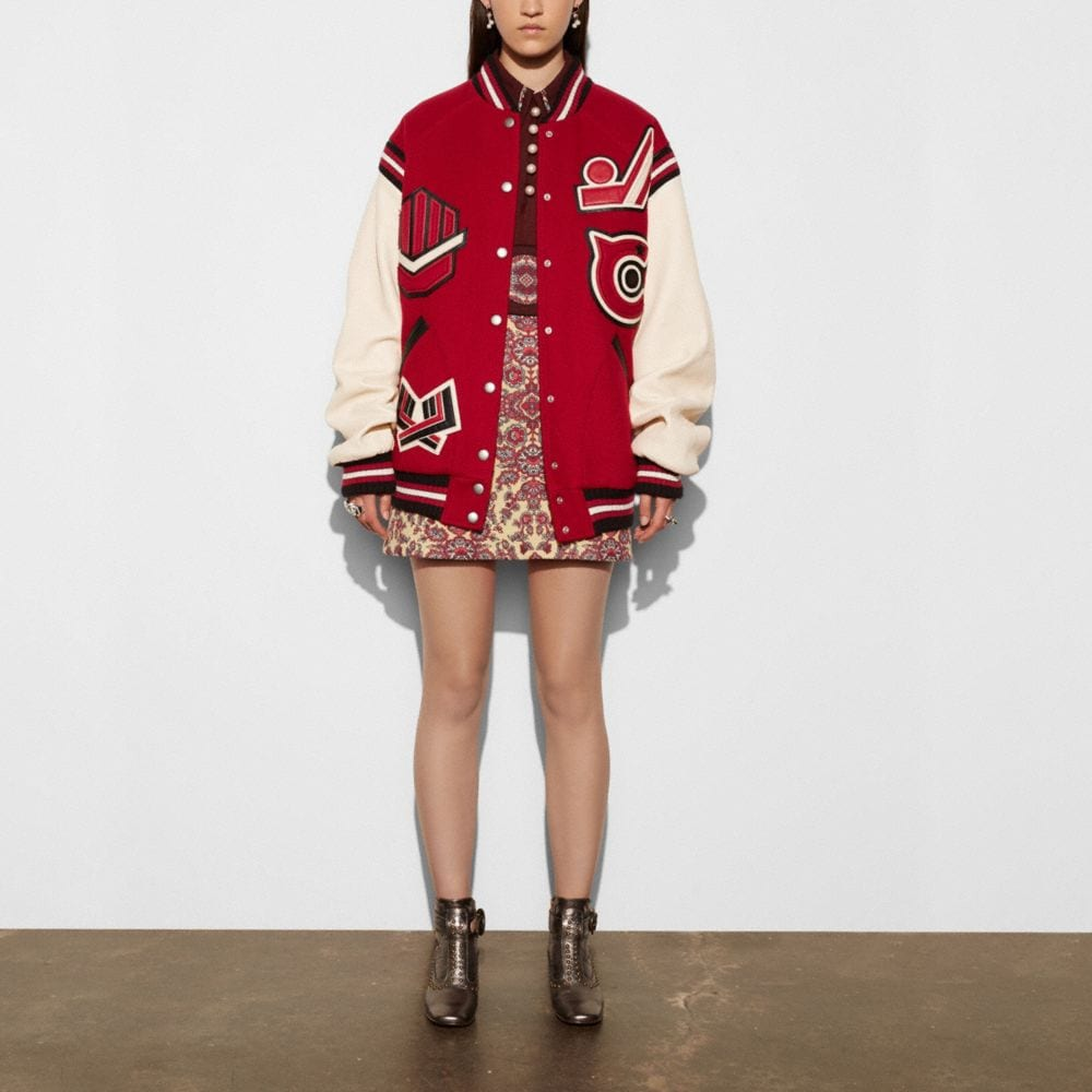 Oversized Varsity Jacket - Alternate View M