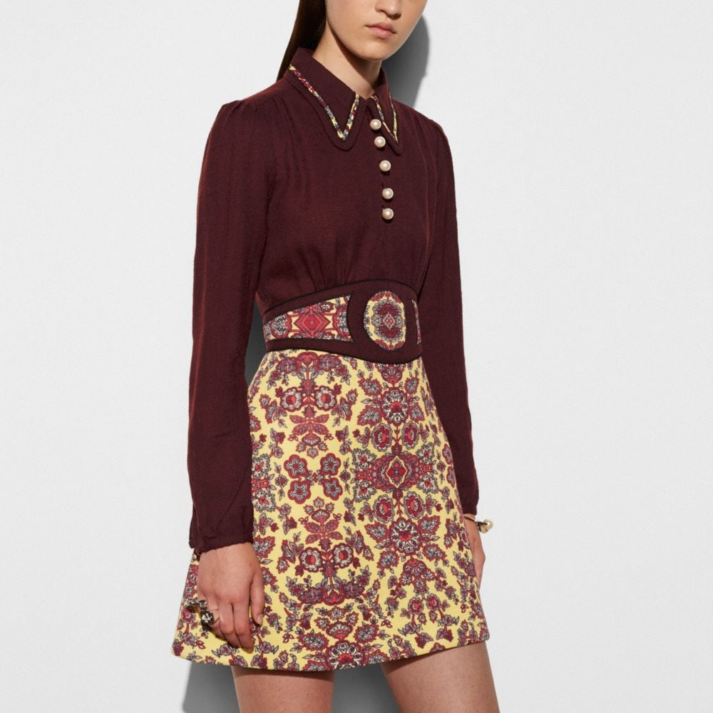 Coach Forest Flower Varsity Dress With Collar Alternate View 2