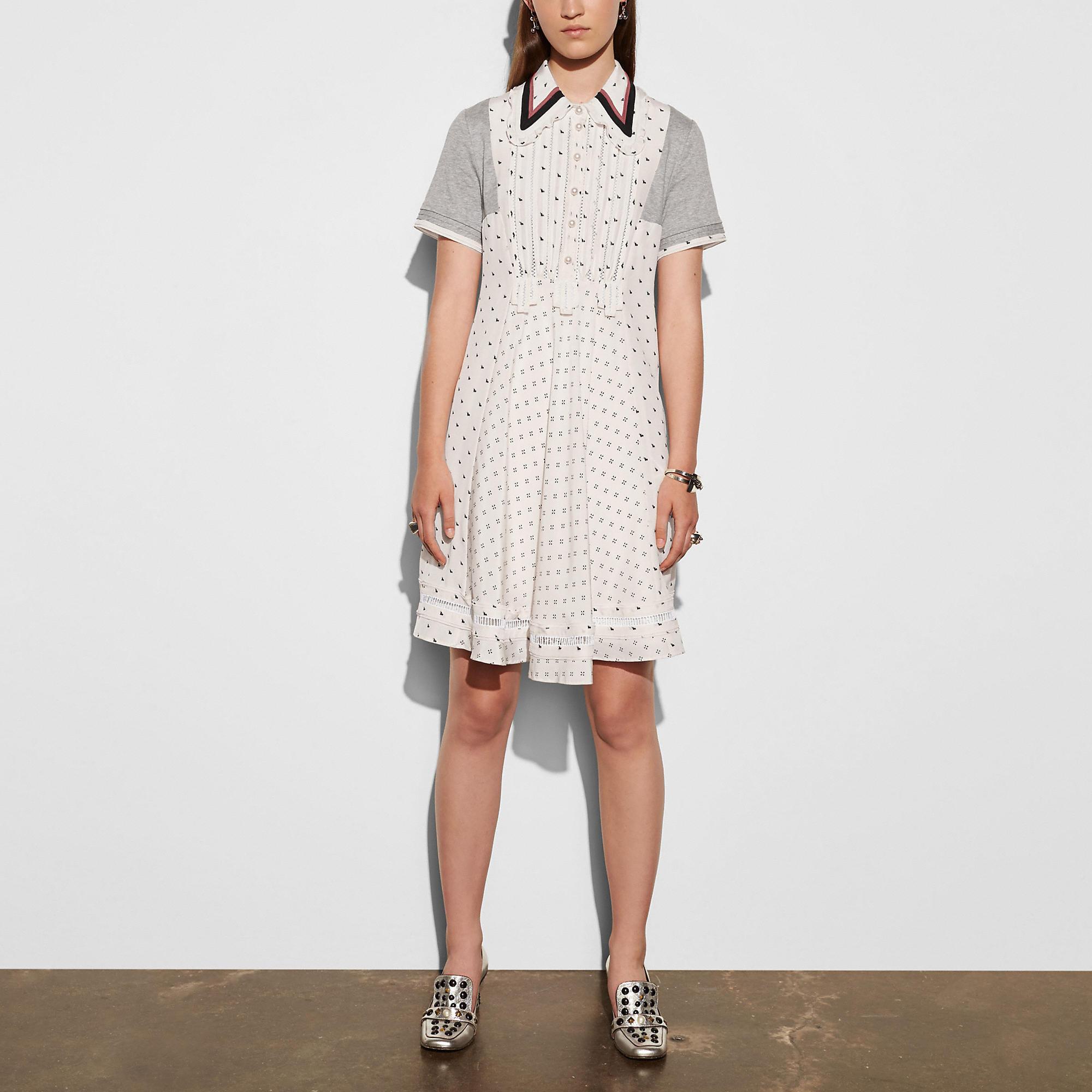 Coach Printed Bib Ribbon Dress