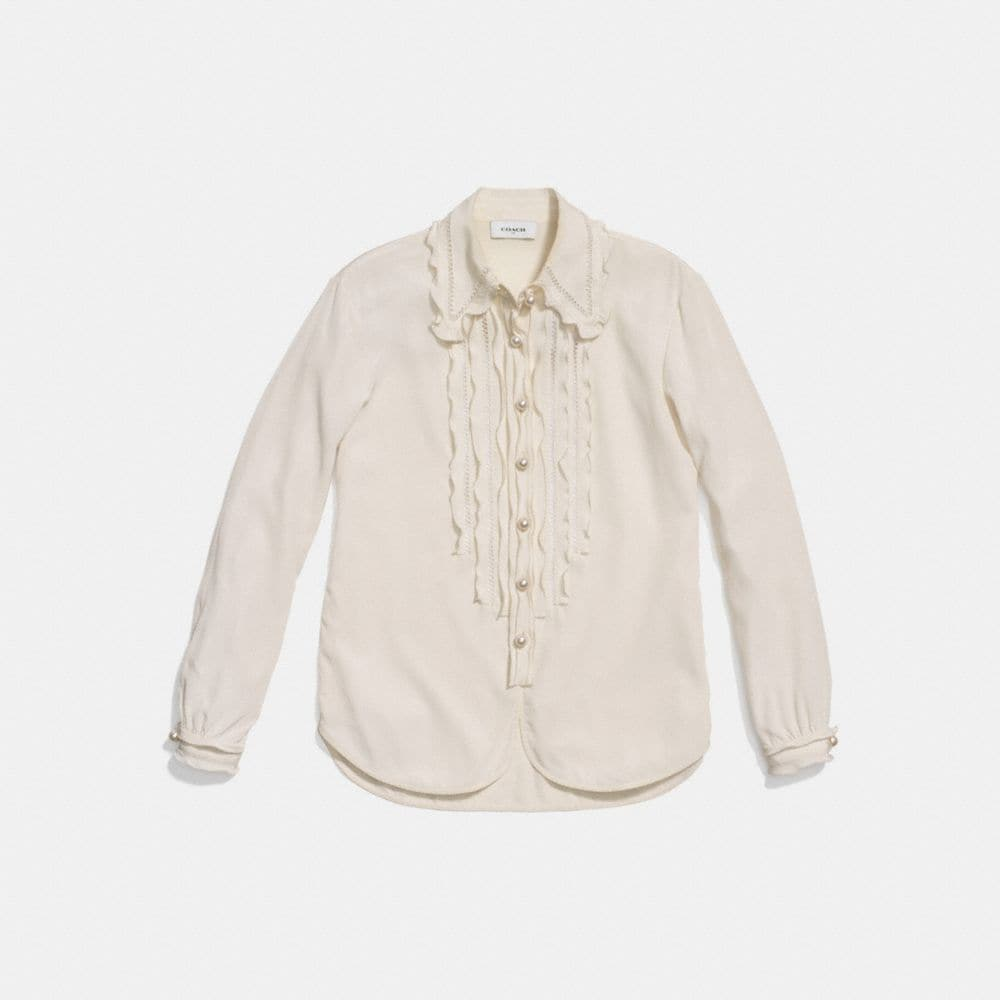 Coach Shirt With Ruffle  Alternate View 1