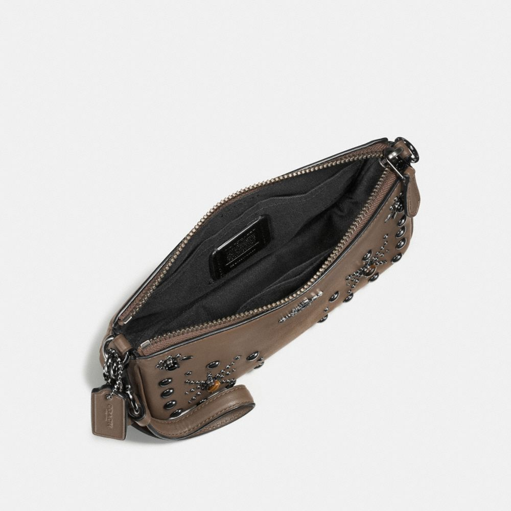 Nolita Wristlet 19 in Glovetanned Leather With Western Rivets - Alternate View A1