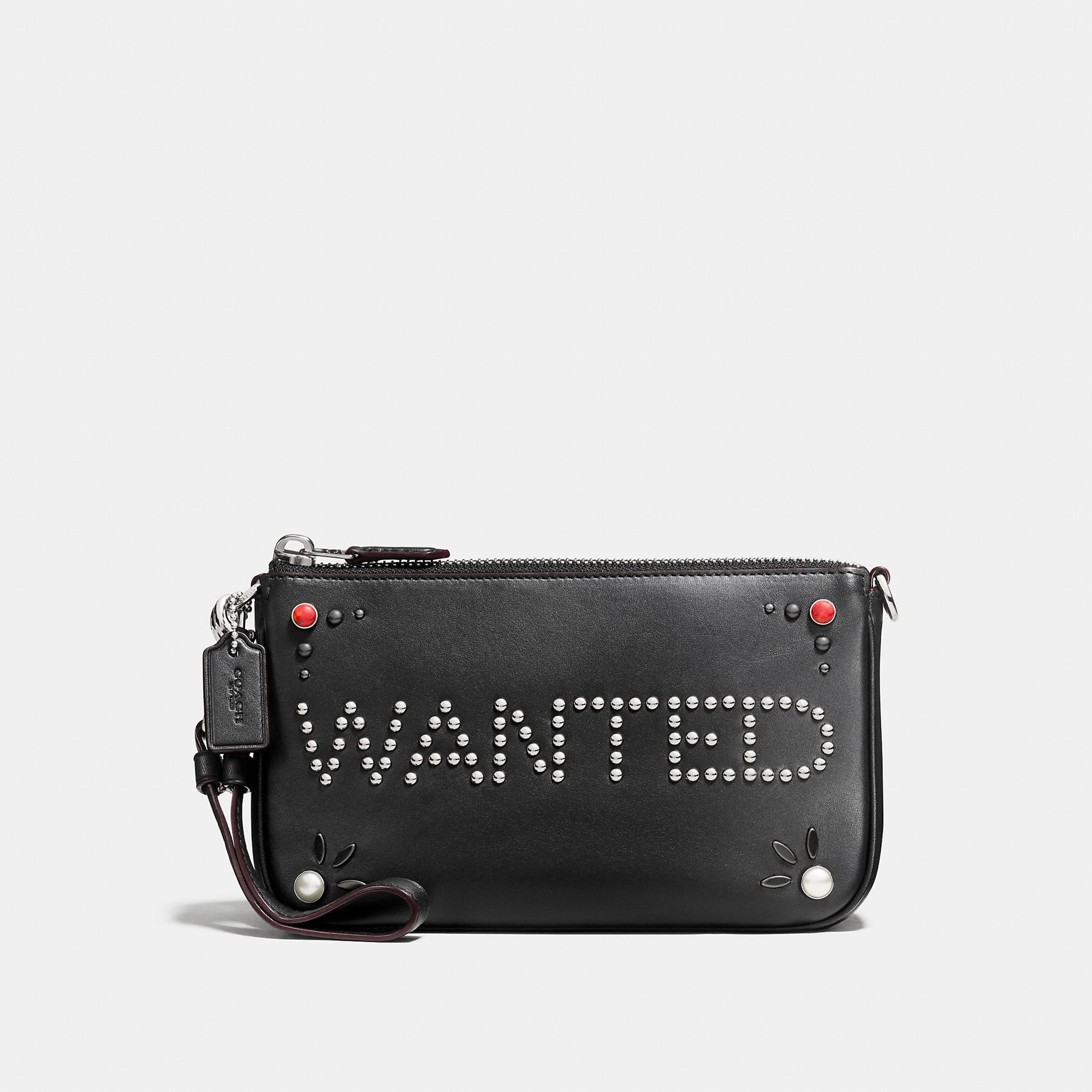 Coach Western Rivets Nolita Wristlet 19 In Glovetanned Leather