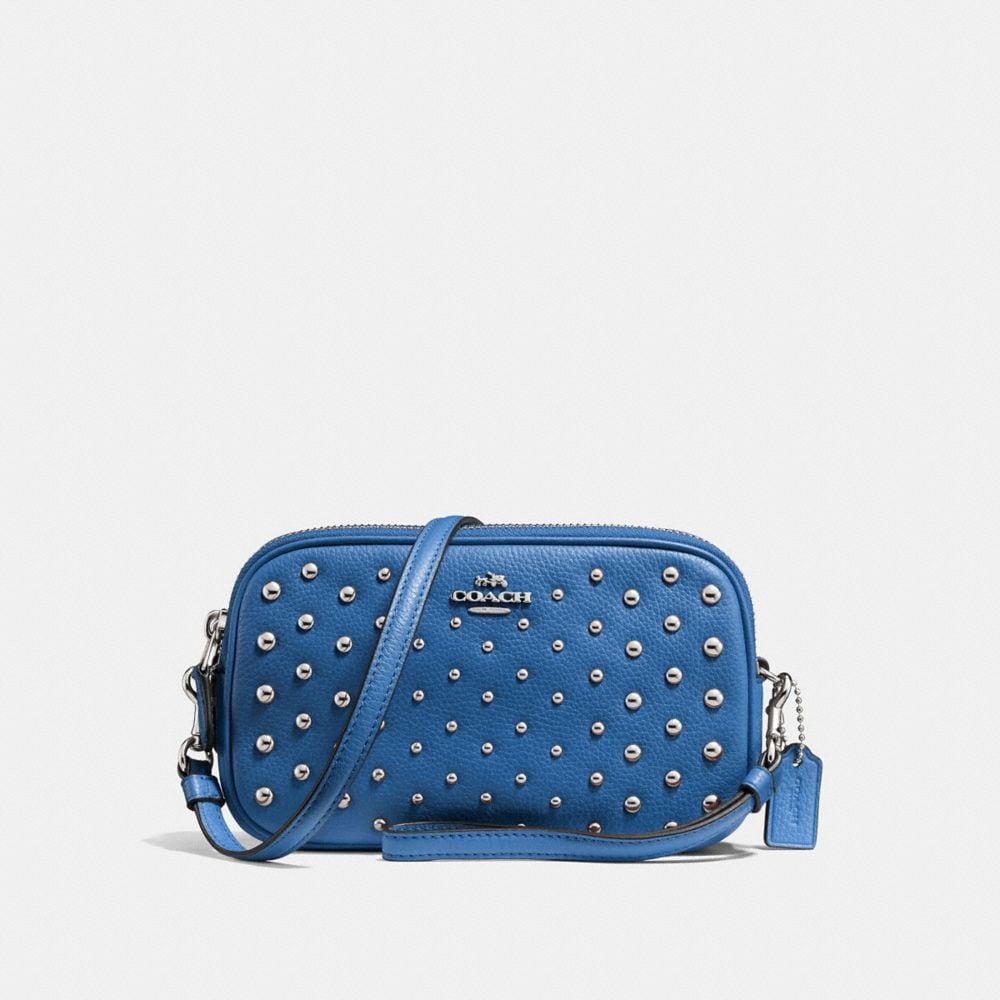 CROSSBODY CLUTCH WITH OMBRE RIVETS