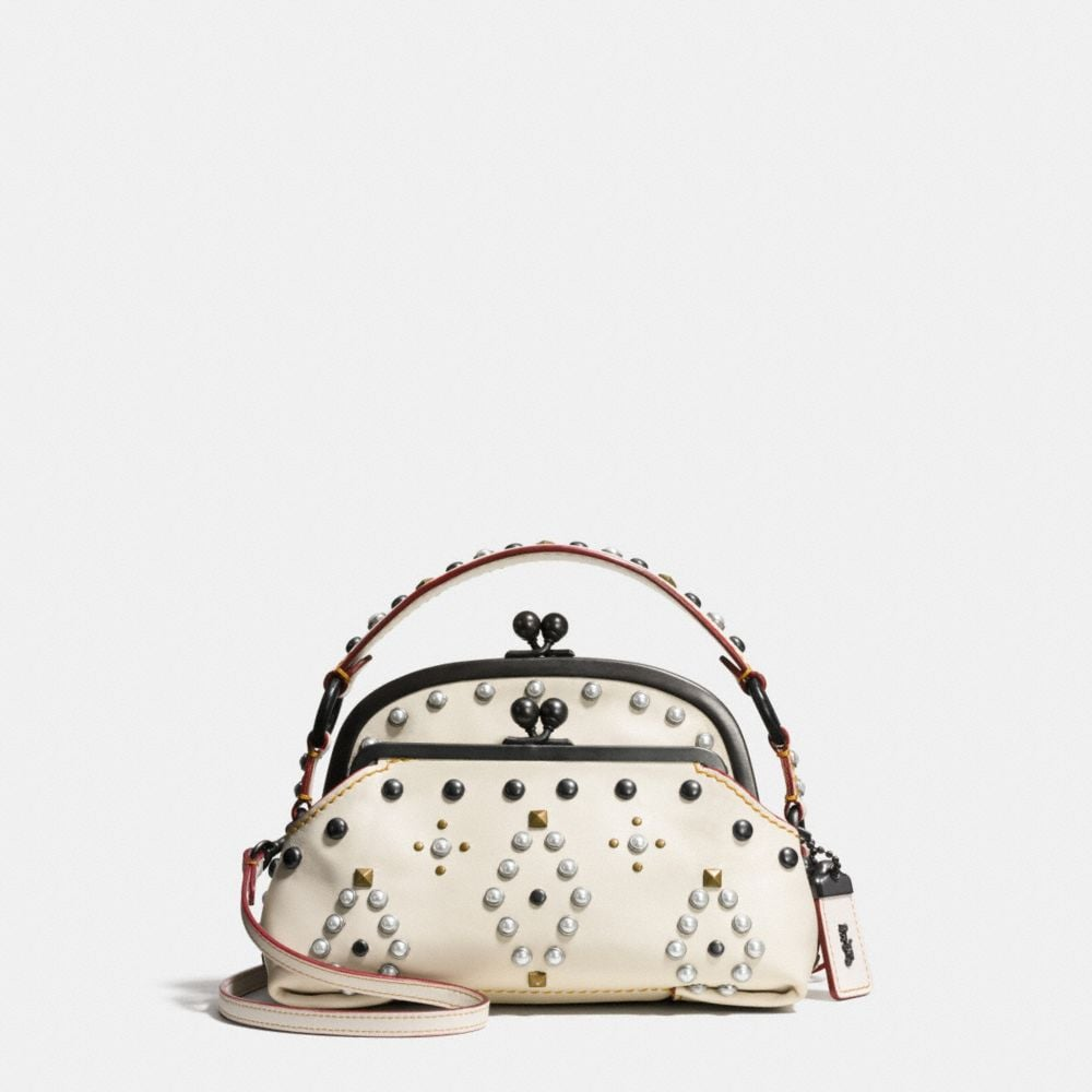 Coach Western Rivets Triple Frame Outlaw Satchel in Glovetanned Leather