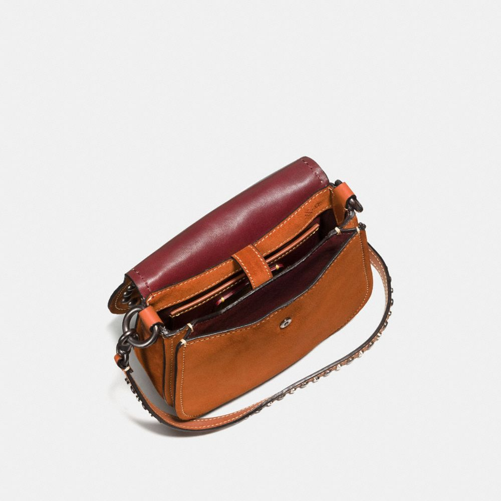 Western Rivets Saddle Bag 17 in Suede - Autres affichages A2