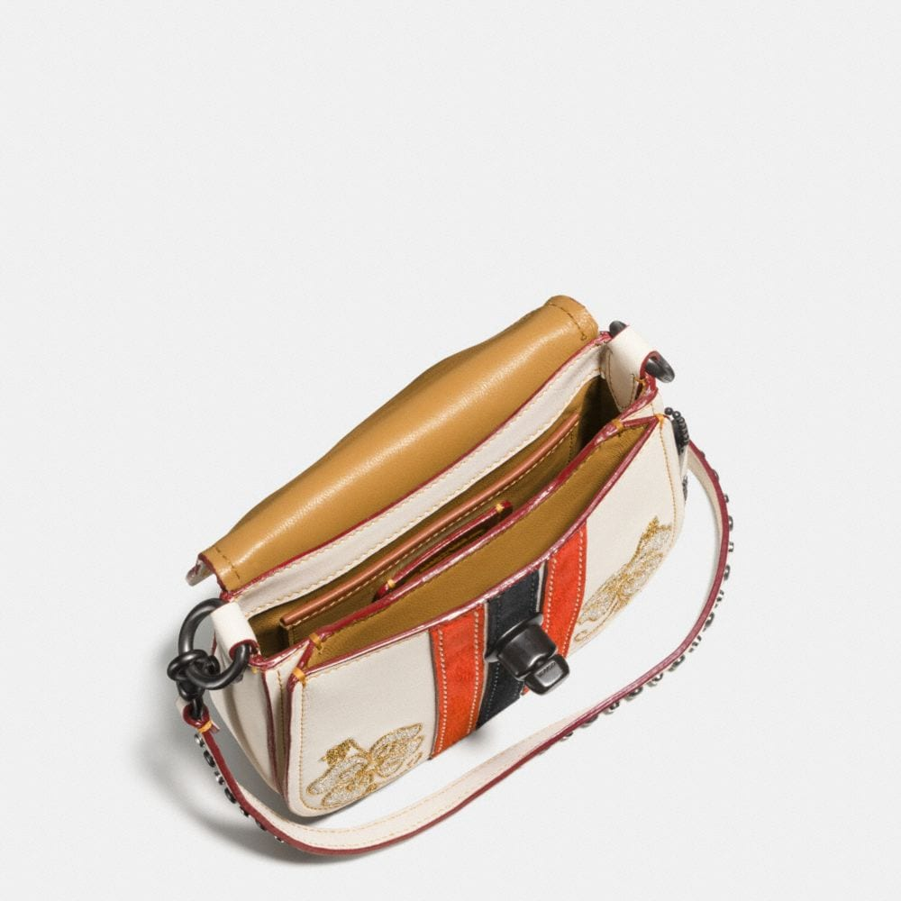 Coach Western Embroidery Turnlock Saddle Bag 17 in Glovetanned Leather Alternate View 2
