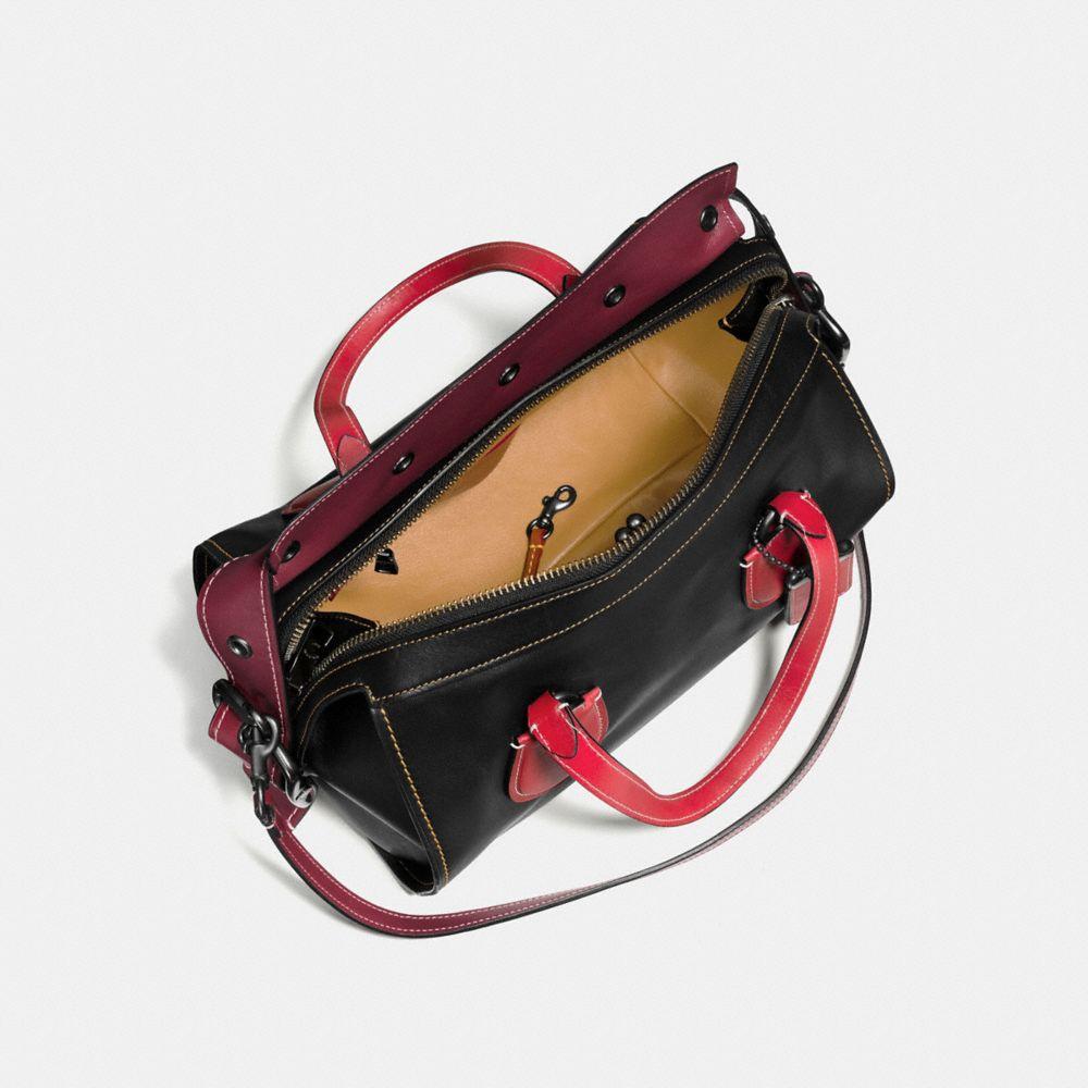 Badlands Satchel in Colorblock Leather - Autres affichages A2