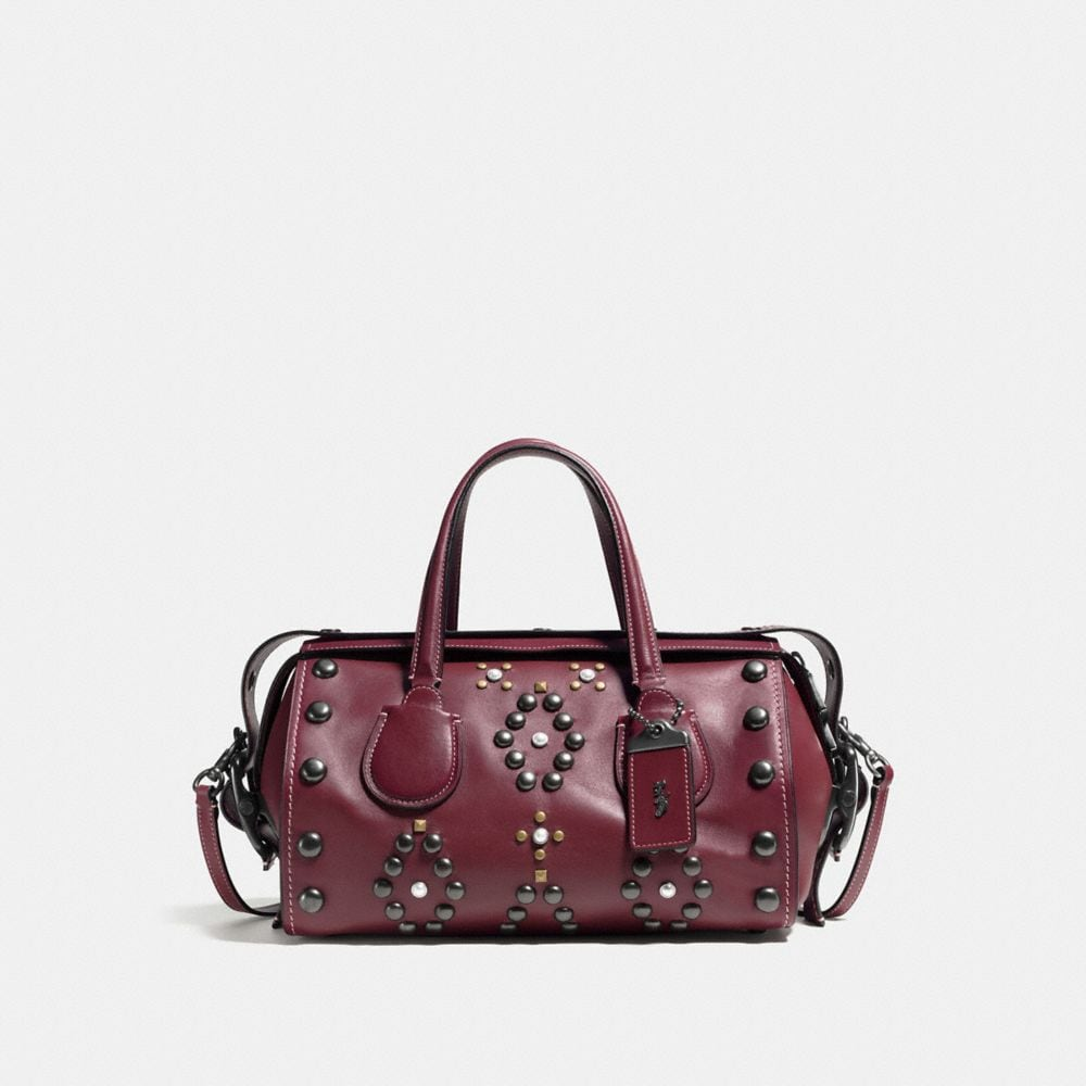 Western Rivets Badlands Satchel in Glovetanned Leather