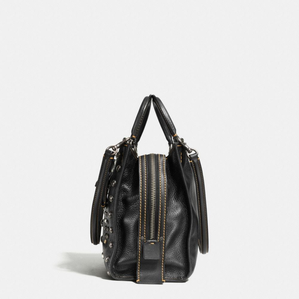WESTERN RIVETS ROGUE BAG IN PEBBLE LEATHER - Autres affichages A1