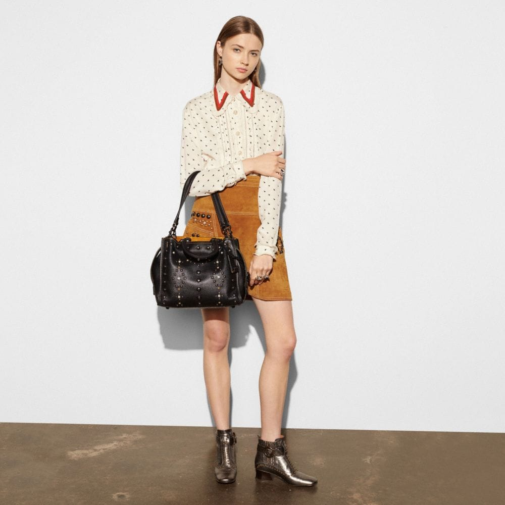 WESTERN RIVETS ROGUE BAG IN PEBBLE LEATHER - Autres affichages A3