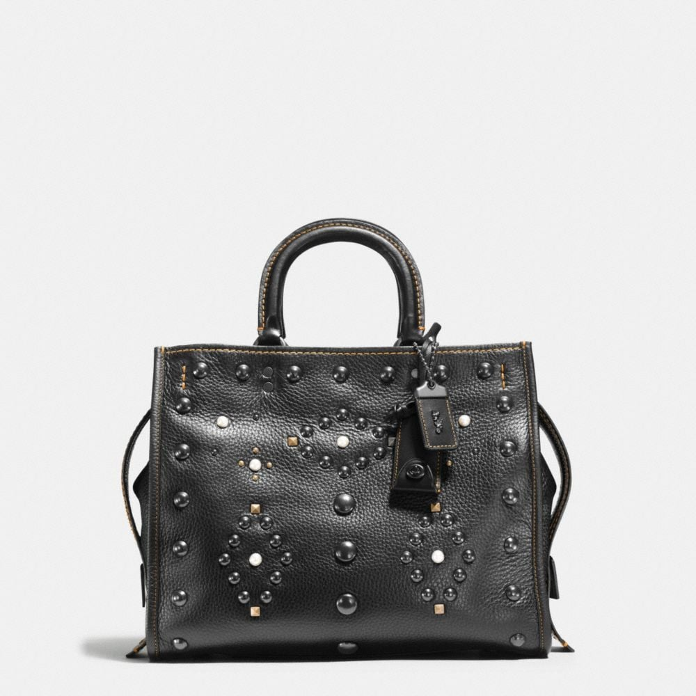Coach Western Rivets Rogue Bag in Pebble Leather