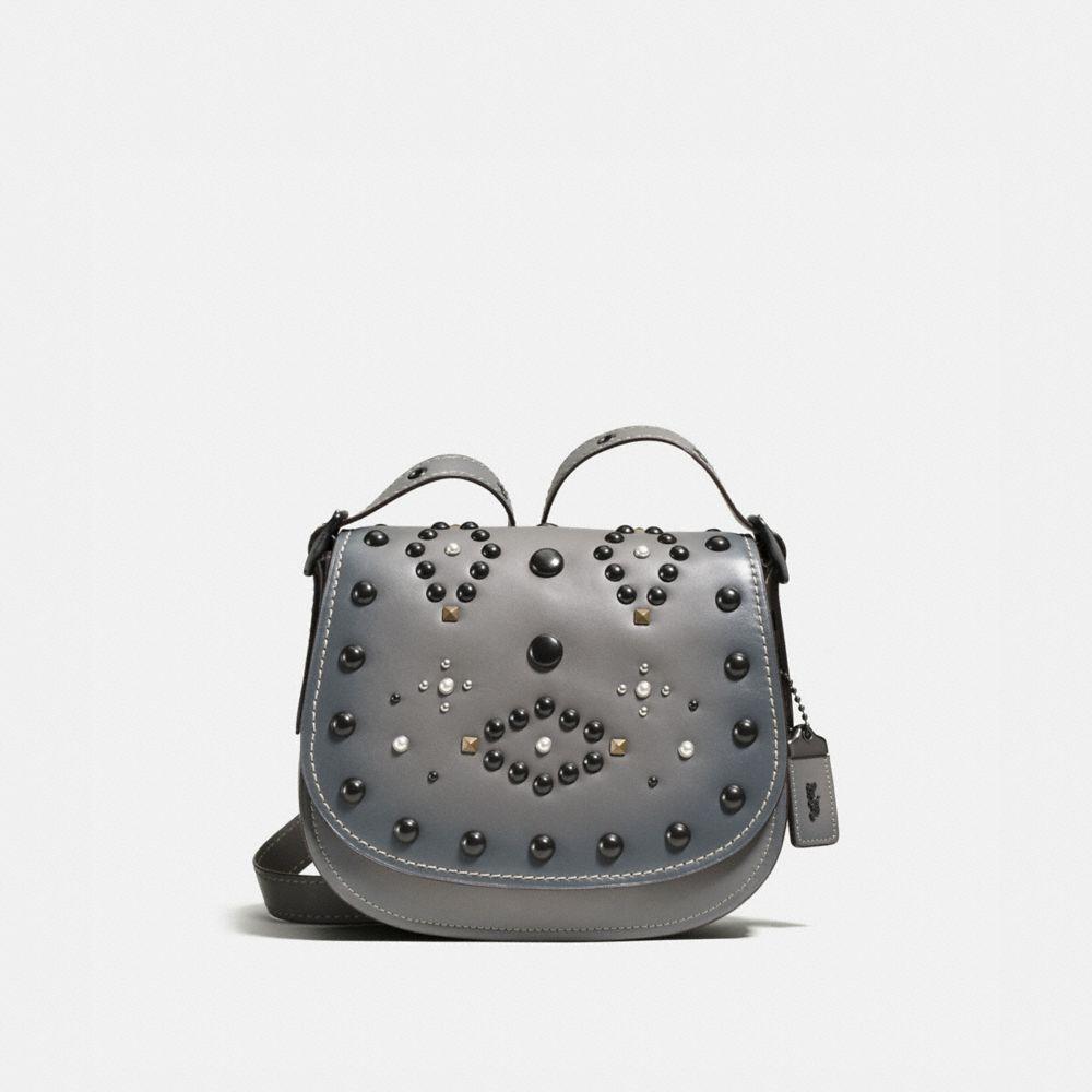 Western Rivets Saddle Bag 23 in Glovetanned Leather