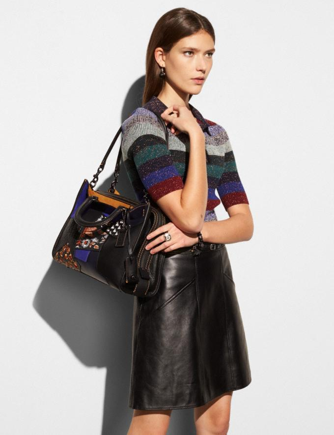 Coach Rogue Bag in Embellished Patchwork Leather Bp/Chalk Multi  Alternate View 2