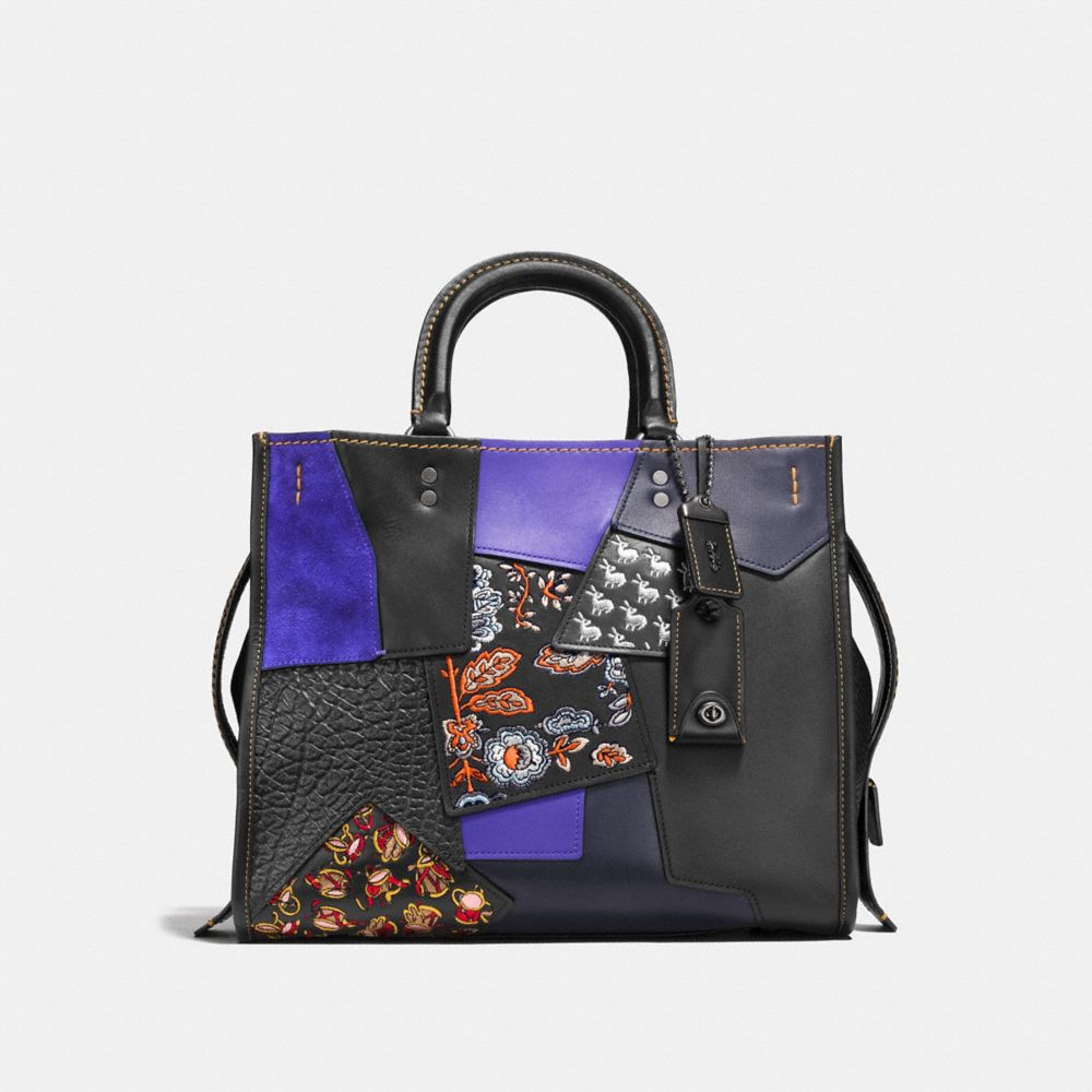 Coach Rogue Bag in Embellished Patchwork Leather