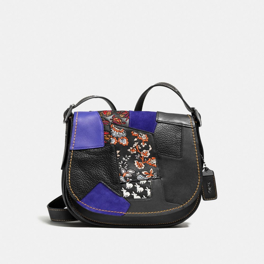Coach Saddle 23 With Embellished Patchwork