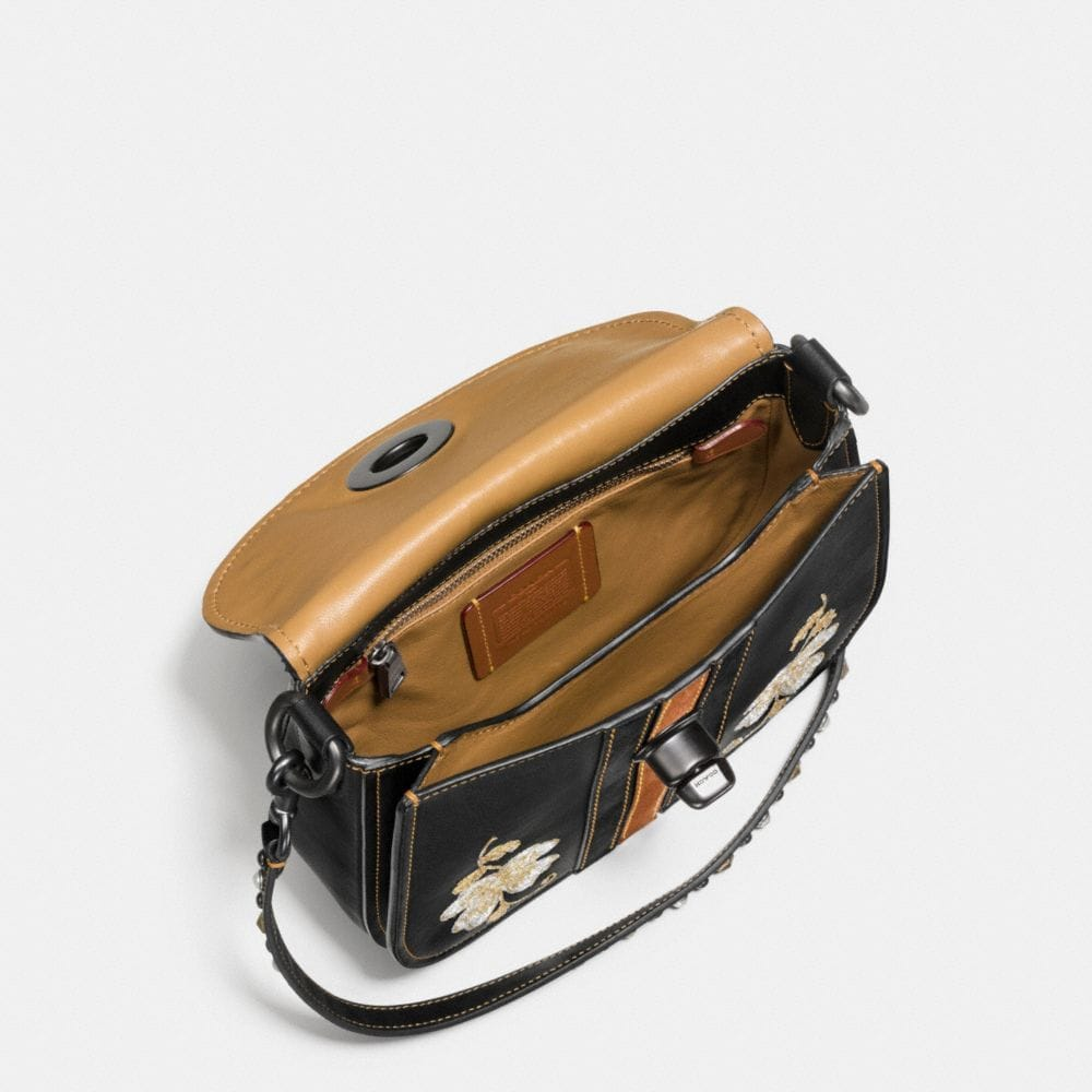 Coach Western Embroidery Turnlock Saddle Bag 23 in Glovetanned Leather Alternate View 2