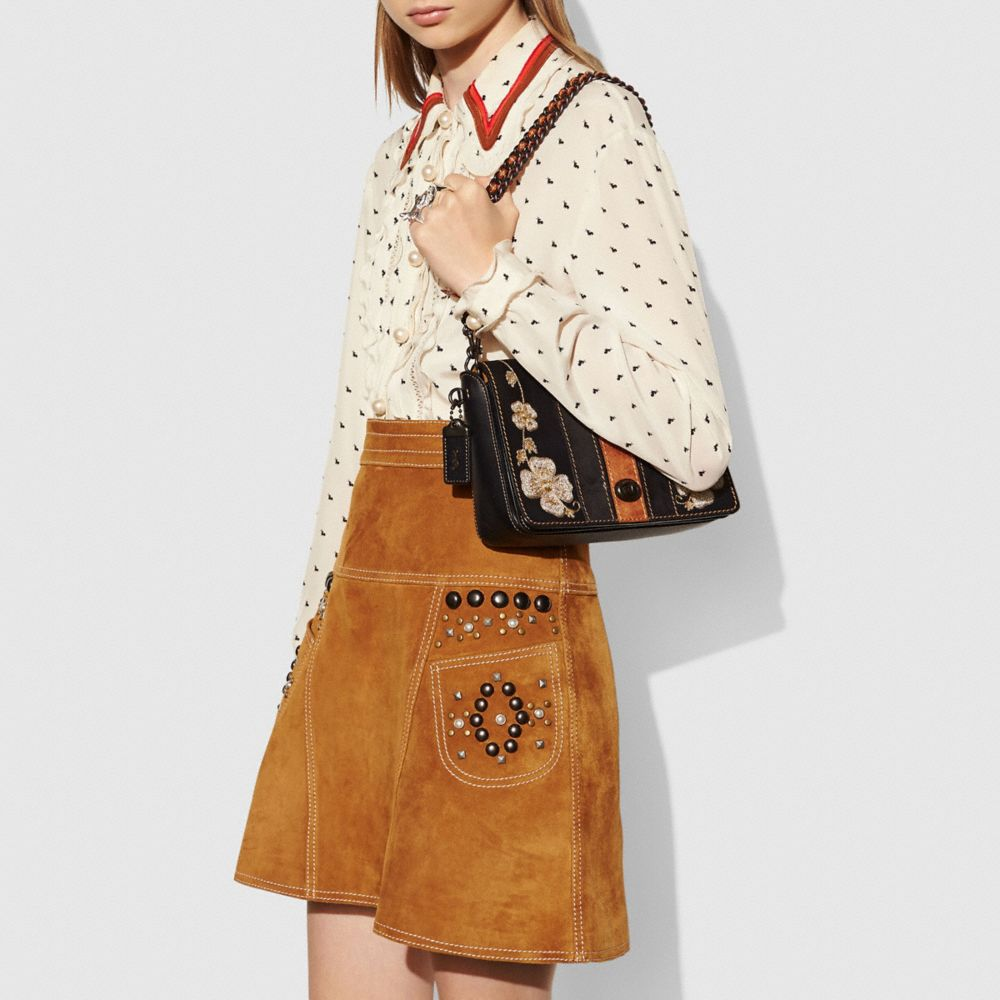 WESTERN EMBROIDERY DINKY CROSSBODY 24 IN GLOVETANNED LEATHER - Autres affichages A4