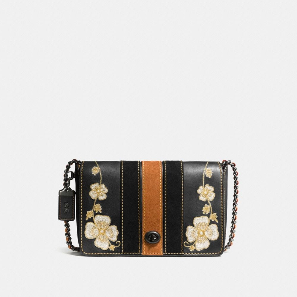 WESTERN EMBROIDERY DINKY CROSSBODY 24 IN GLOVETANNED LEATHER