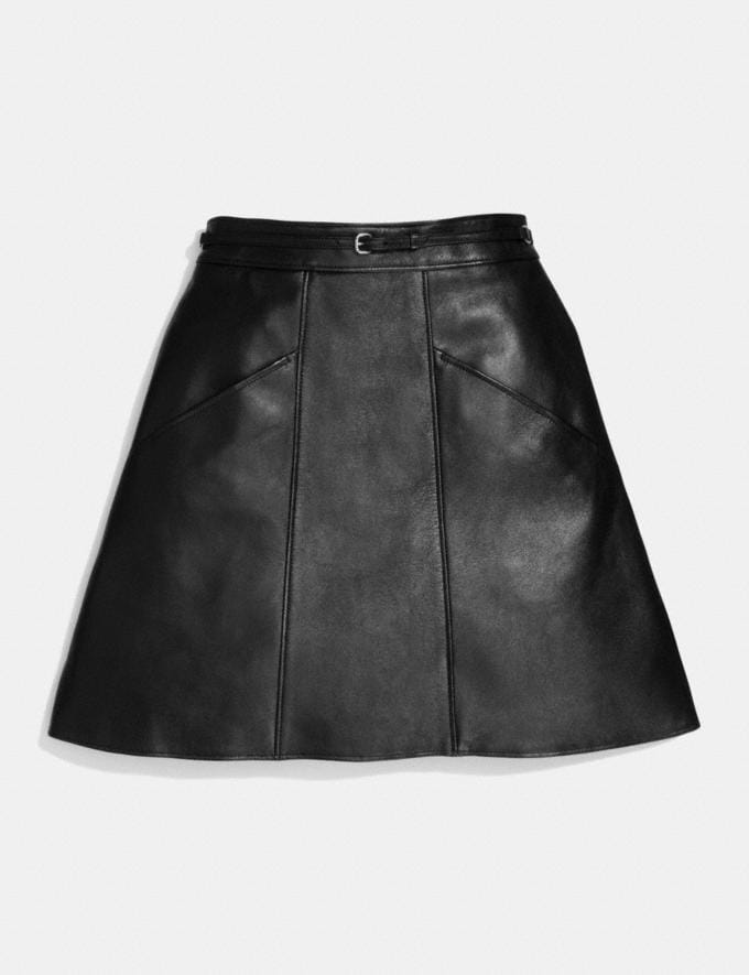 Coach Leather a-Line Skirt Black Women Ready-to-Wear Skirts Alternate View 1
