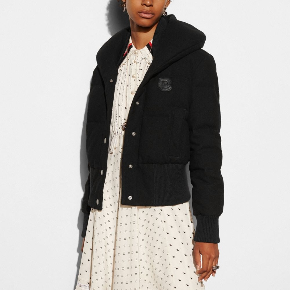 Coach Wool Short Puffer