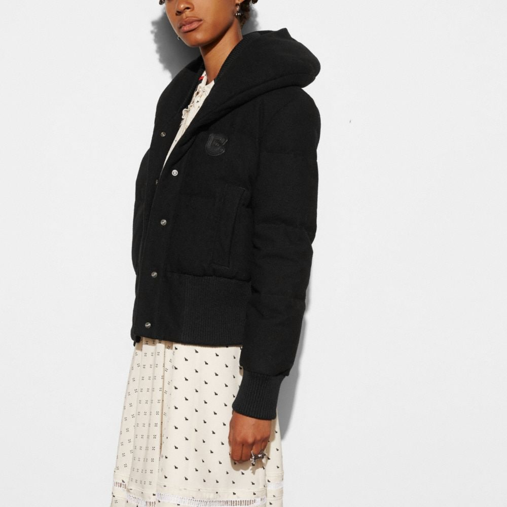 Wool Short Puffer  - Alternate View M