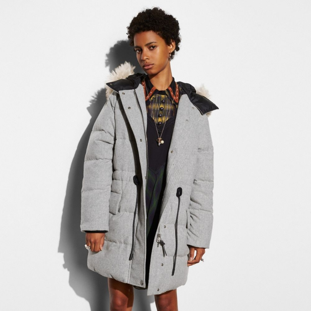 Wool Puffer Coat