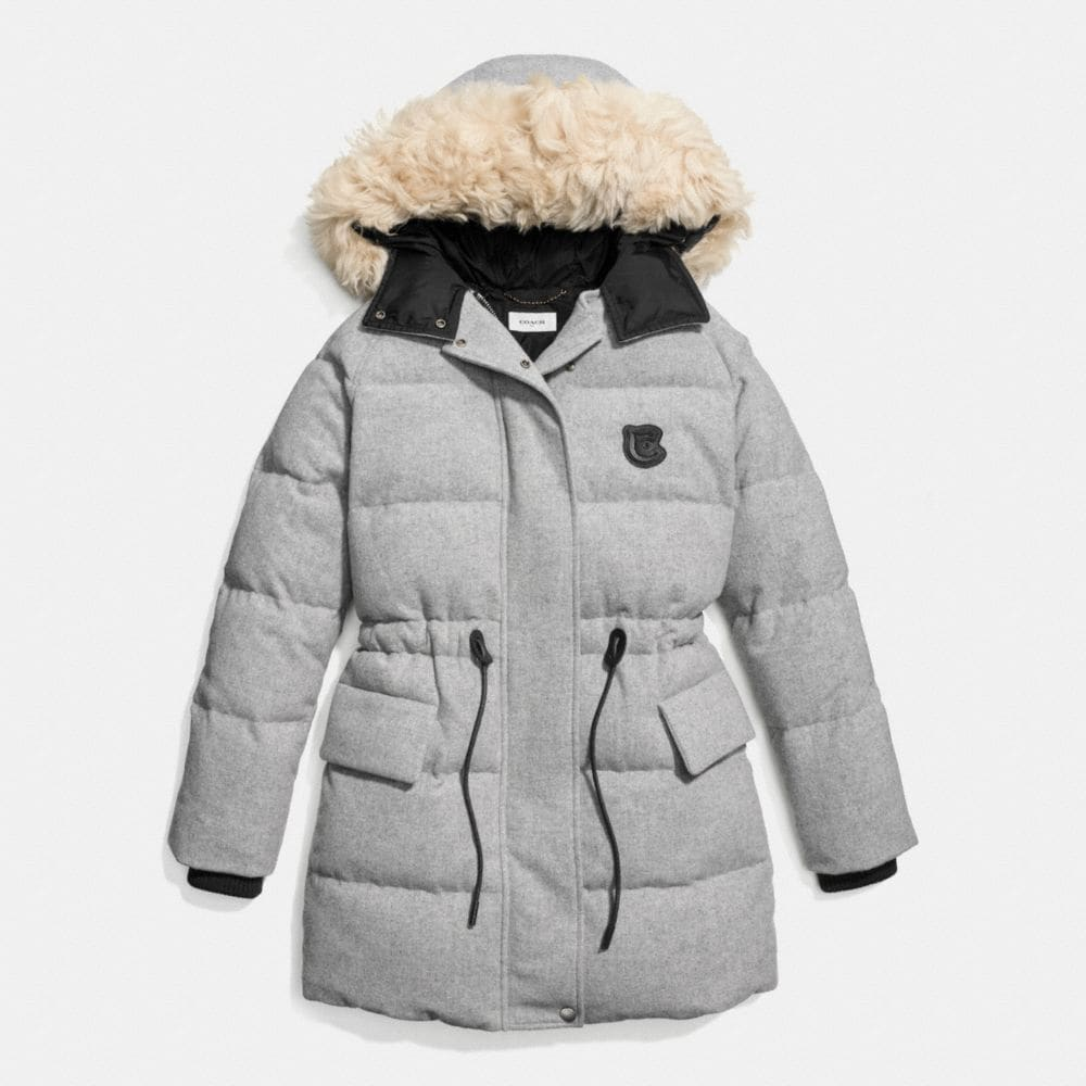 Wool Puffer Coat - Alternate View A1