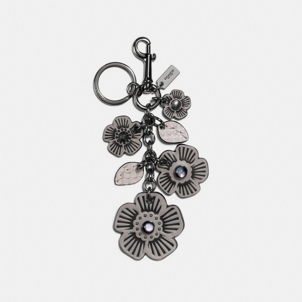MULTI WILLOW FLORAL BAG CHARM