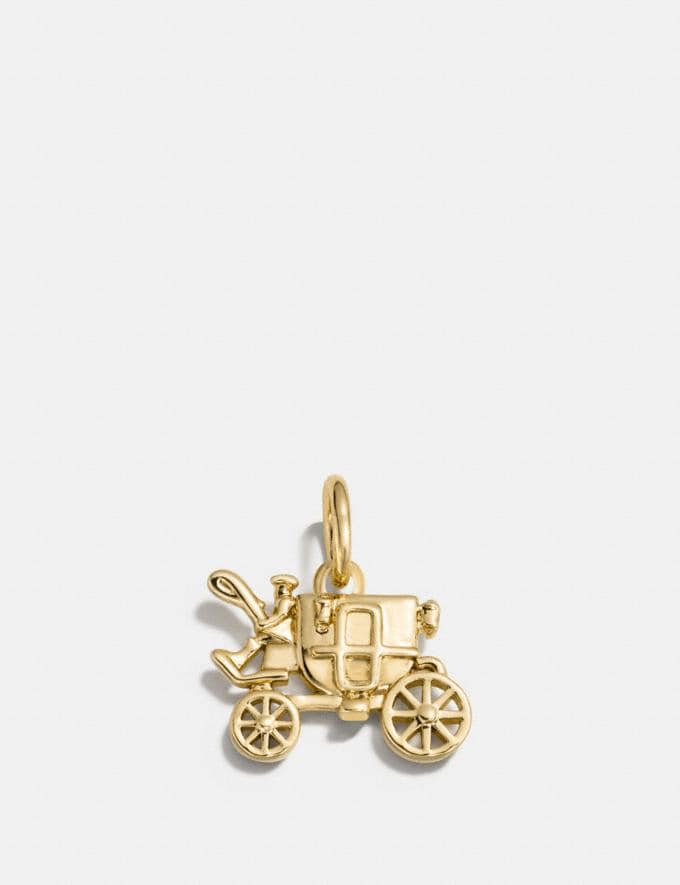 Coach Carriage Charm Silver Customization For Her Charms
