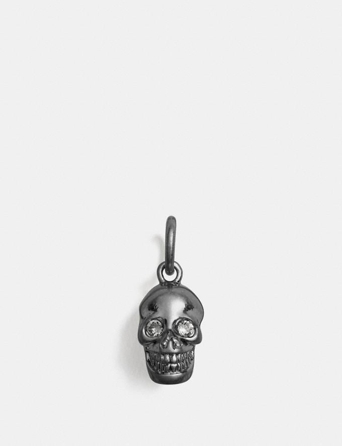 Coach Skull Charm Black/Silver Customization For Her Charms