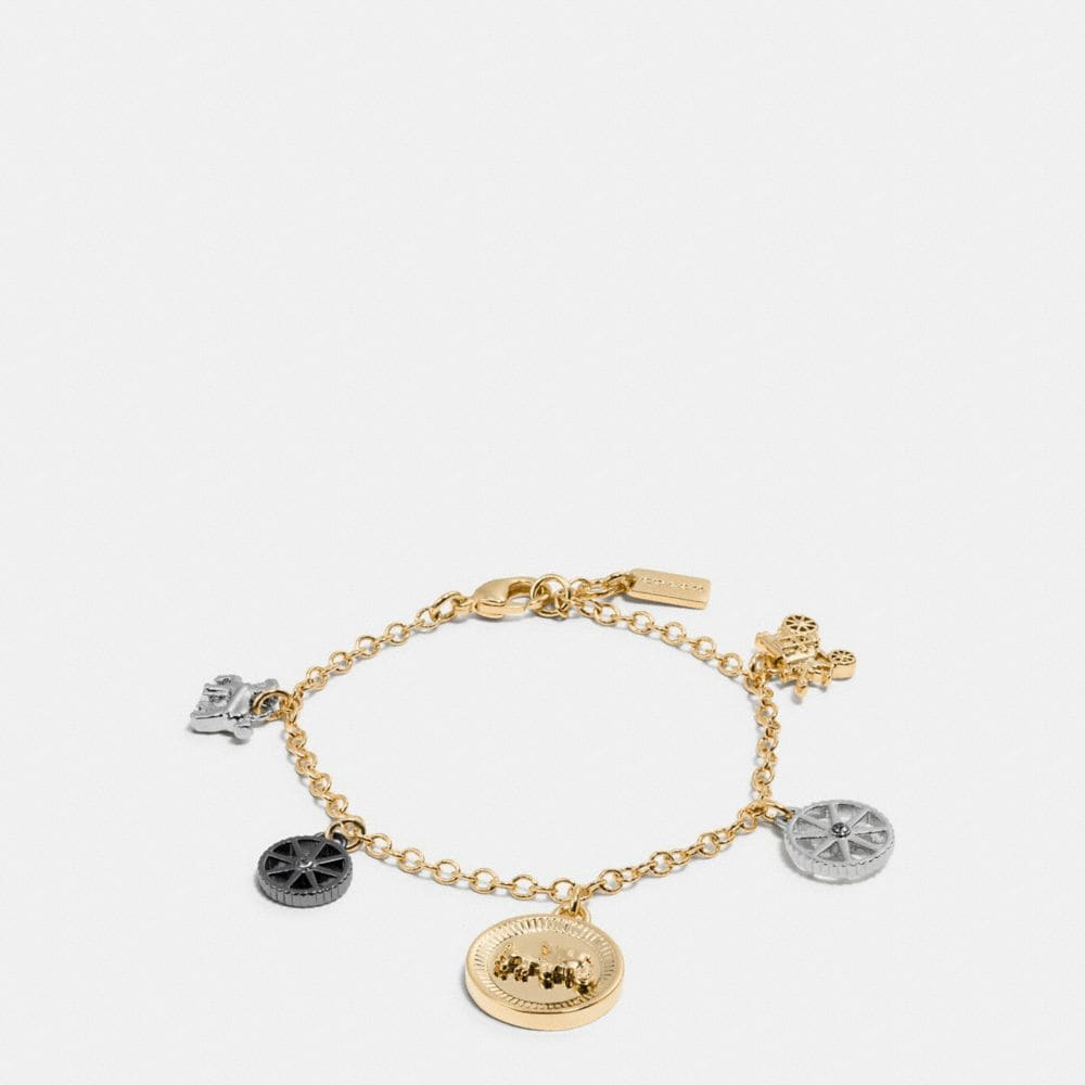 HORSE AND CARRIAGE COIN MIX BRACELET