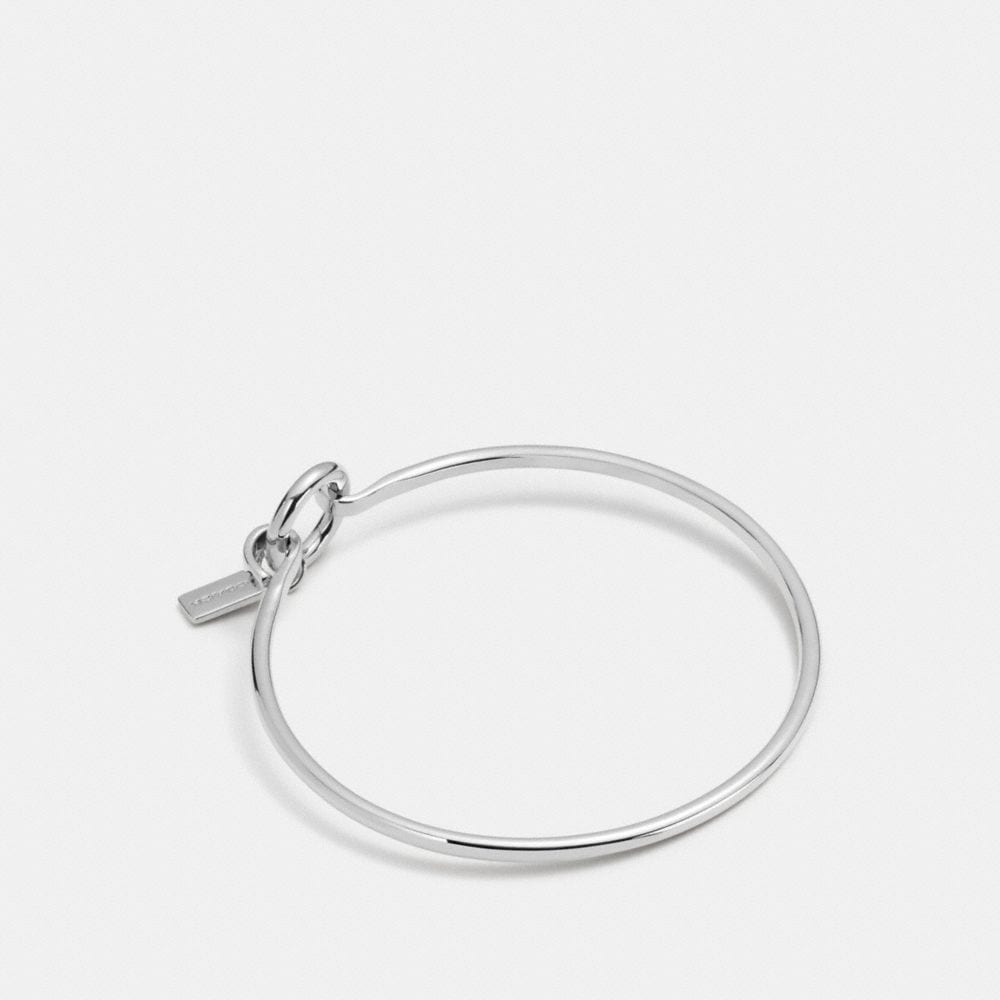 Coach Charm Base Hinged Hoop Bangle