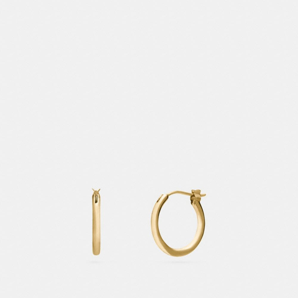 Coach Charm Base Hoop Earrings