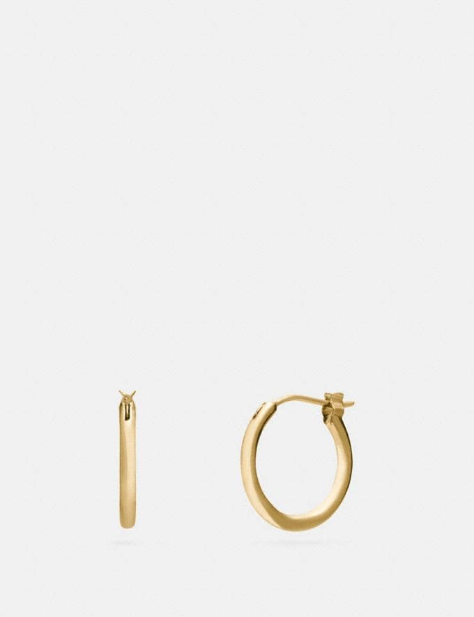 Coach Charm Base Hoop Earrings Gold Customization For Her Design Your Jewelry