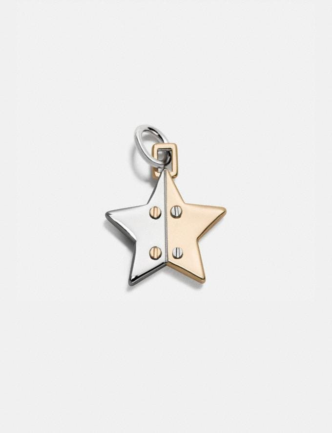 Coach Two Tone Hinged Star Charm Silver/Gold Customization For Her Charms