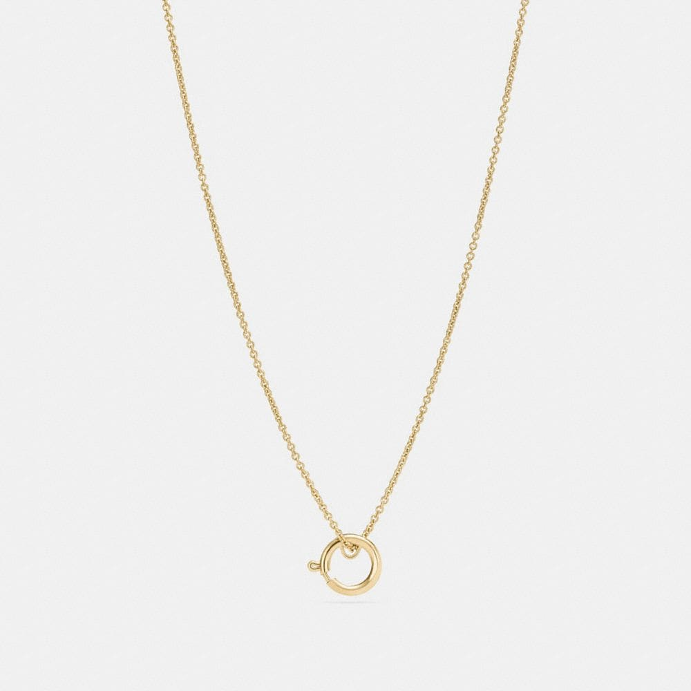 Coach Charm Base Hoop Necklace