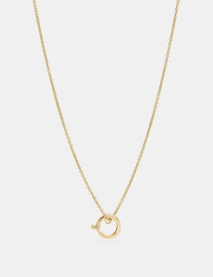 Coach Charm Base Hoop Necklace Gold Customization For Her Design Your Jewelry