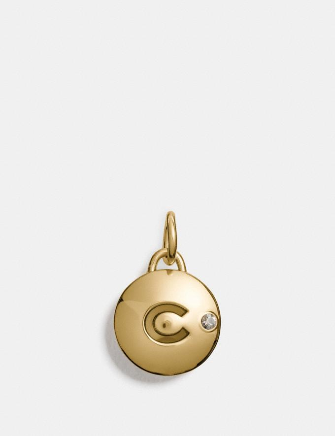 Coach Coach C Disc Charm Gold Customization For Her Charms