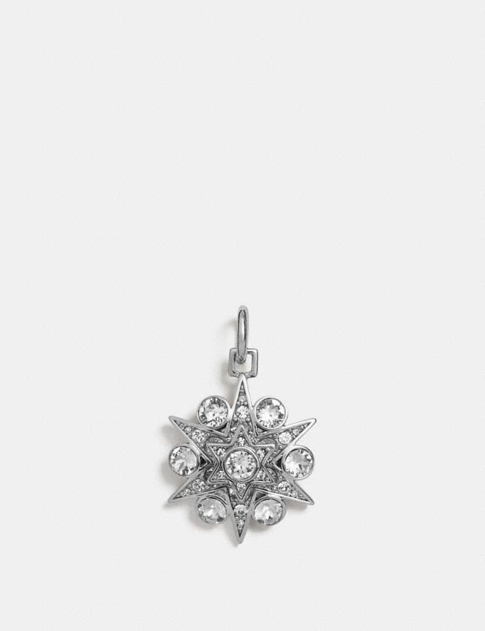 Coach Pave Snowflake Charm Clear/Silver