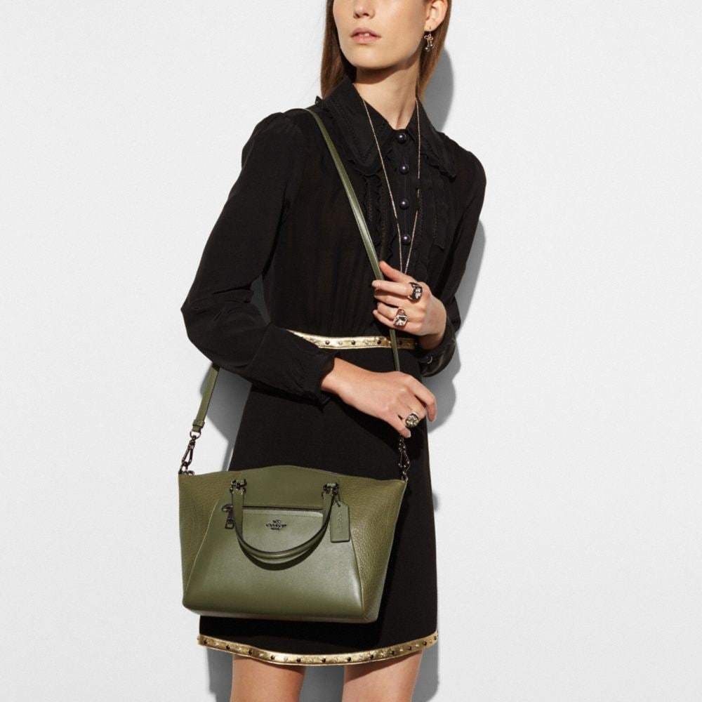 Prairie Satchel in Mixed Leathers - Alternate View A3