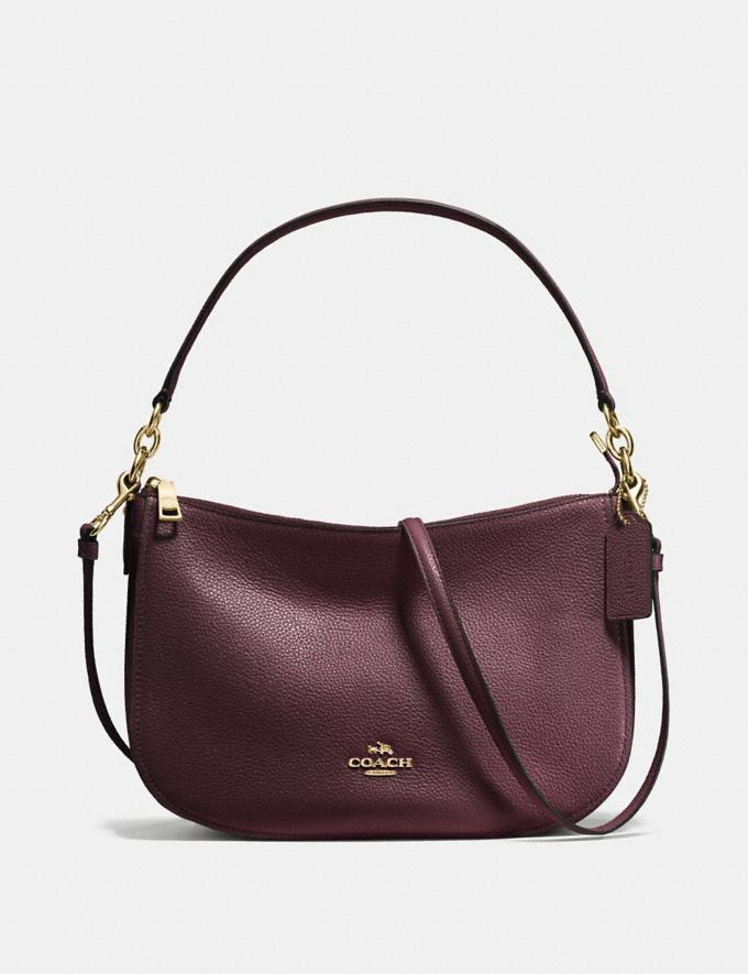 60ceac6f96cd30 Coach Chelsea Crossbody Oxblood/Light Gold Women Bags Shoulder Bags