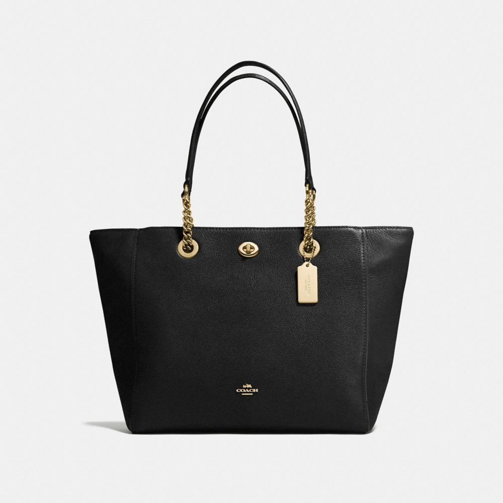 Coach Turnlock Chain Tote