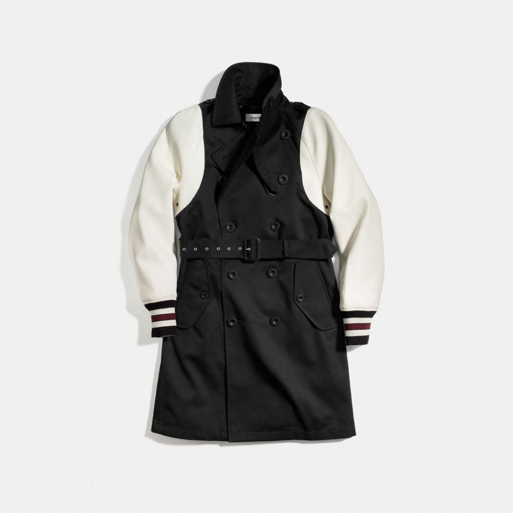 Coach Varsity Trench Jacket Alternate View 1