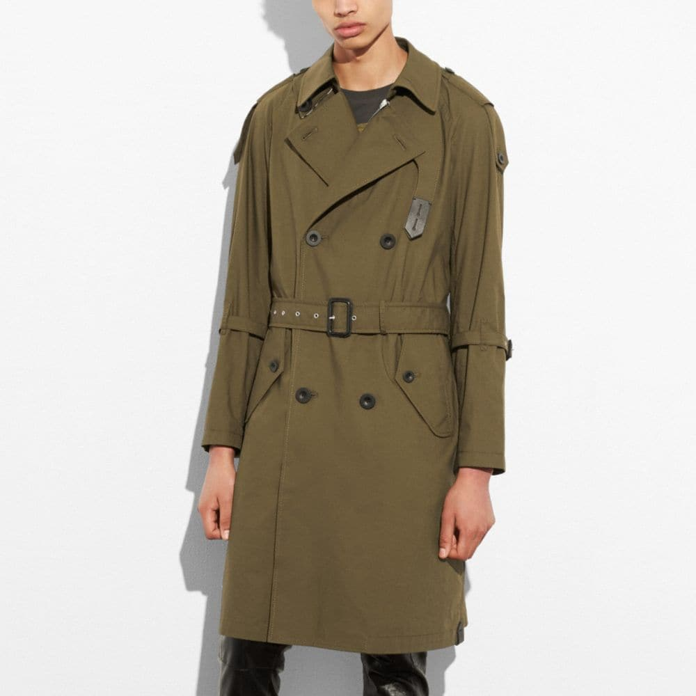 Coach Strapped Raincoat
