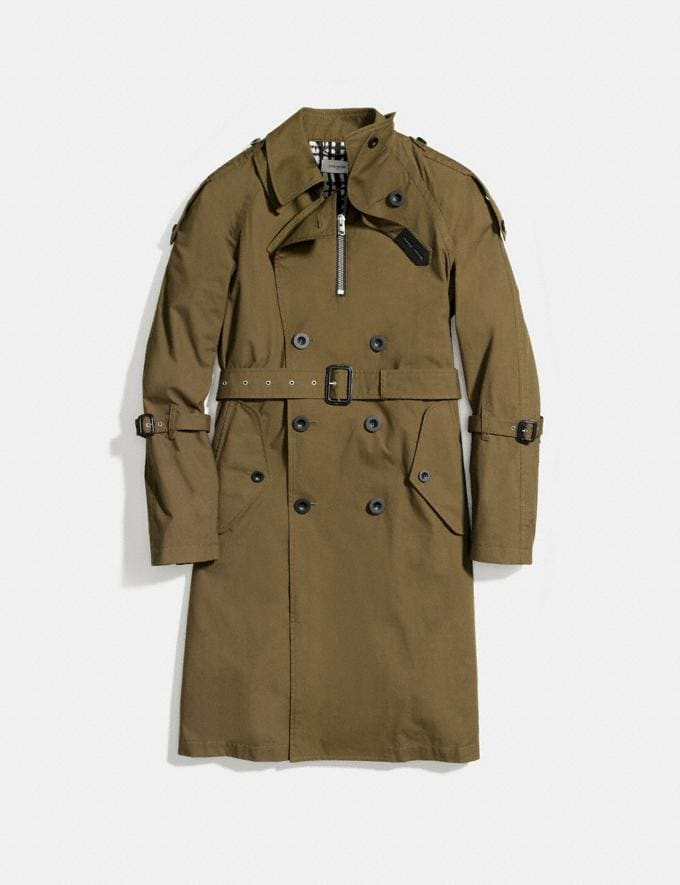Coach Strapped Raincoat Military Runway Shop Men Ready-to-Wear Alternate View 1