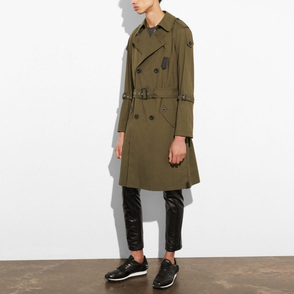 Coach Strapped Raincoat Alternate View 3
