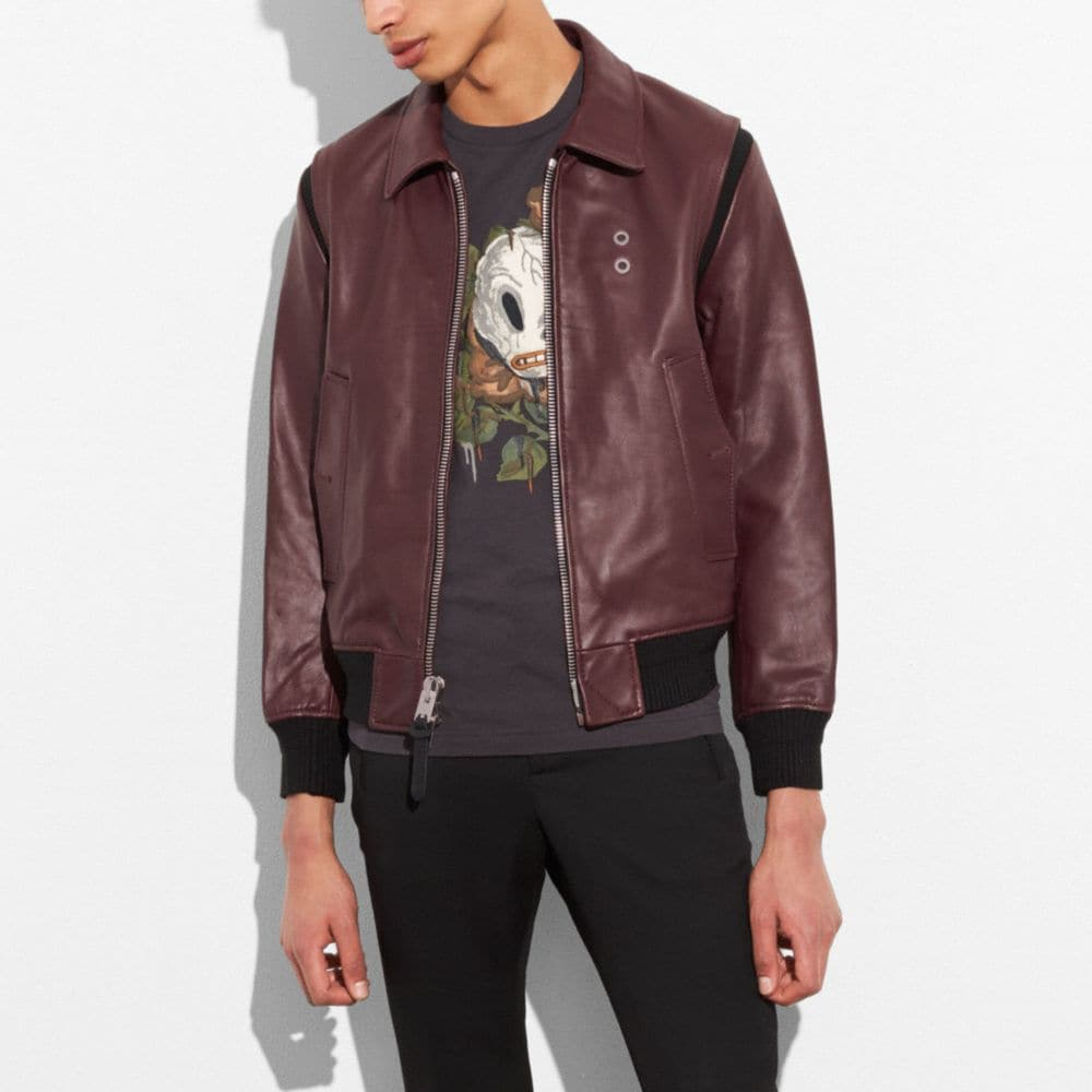 Coach Zip Front Bomber Jacket