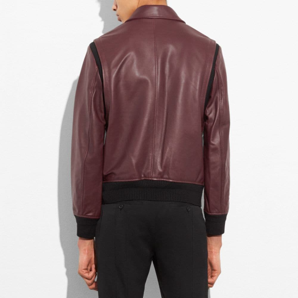 Coach Zip Front Bomber Jacket Alternate View 2