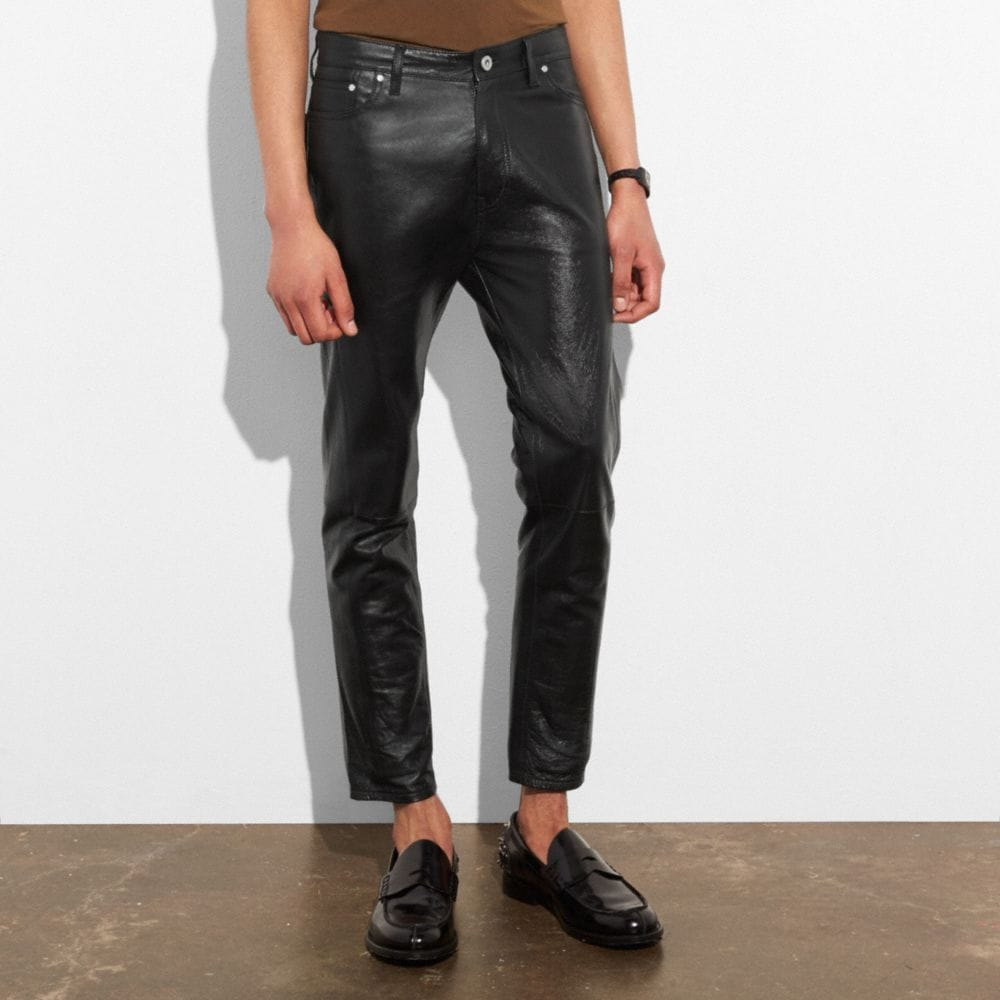 Coach Leather Jeans