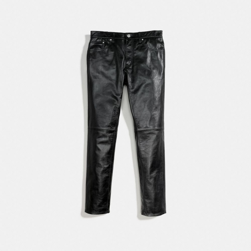 Coach Leather Jeans Alternate View 1